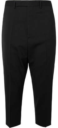 Rick Owens Astaires Cropped Stretch Virgin Wool Trousers