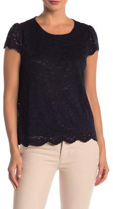 Philosophy Apparel Cap Sleeve Lined Lace Top