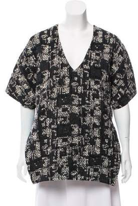 Marissa Webb Short Sleeve Patterned Top