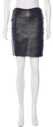 Yigal Azrouel Leather Pencil Skirt