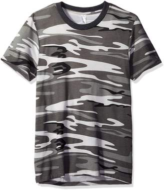 Alternative Men's Eco Jersey Printed Crew T-Shirt, Grey Camo, S