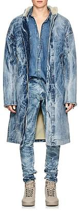 Fear Of God Men's Acid-Washed Denim Deck Coat - Lt. Blue