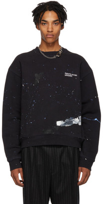 Enfants Riches Deprimes SSENSE Exclusive Black Paint Logo Sweatshirt