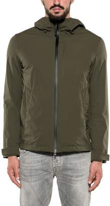 Woolrich Army Green Southbay Hooded Jacket