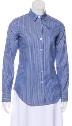 Theory Striped Button-Up Top