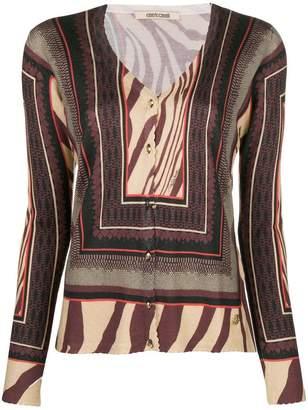 Roberto Cavalli ethnic knit cardigan