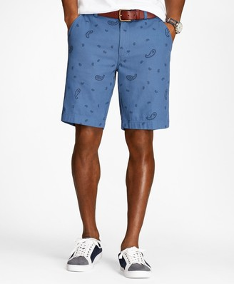 Brooks Brothers Paisley Cotton Jacquard Shorts