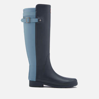 Hunter Women's Original Tall Refined Back Strap Wellies - Navy/Pale Air Force