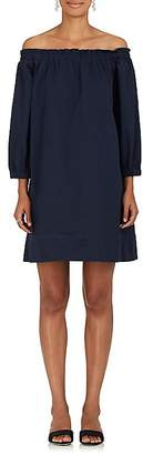 Lisa Perry Women's Cotton Twill Off-The-Shoulder Shift Dress