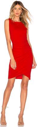 Bobi Supreme Jersey Ruched Mini Dress