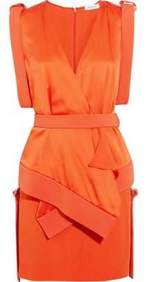 Thierry Mugler Cady And Satin Mini Dress