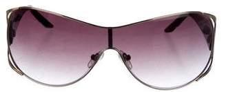 Oscar de la Renta Metal Shield Sunglasses