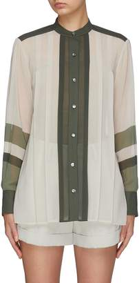 Equipment 'Sintrine' colourblock pleated stripe shirt