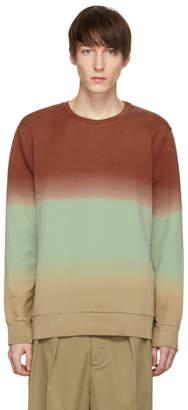 Cmmn Swdn Red and Green Coen Degrade Loopback Sweatshirt