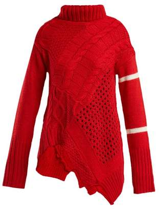 Preen Line Serenity Cable Knit Sweater - Womens - Red
