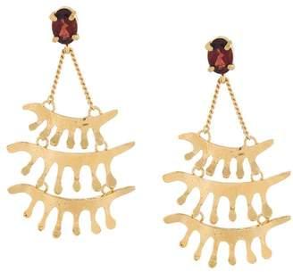 Wouters & Hendrix 'In Mood For Love' garnet chandelier earrings