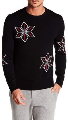 Rag & Bone Snowflake Crew Neck Wool Sweater