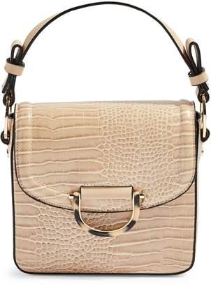 Topshop Carrie Croc-Print Shoulder Bag