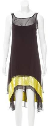 Gryphon Sequin Embellished Silk Dress
