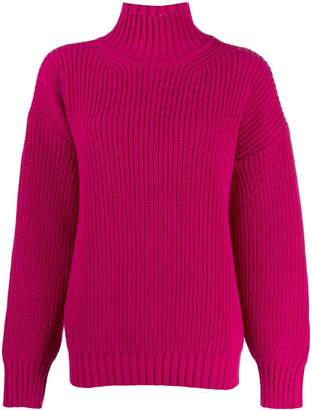 MSGM chunky knit turtleneck jumper