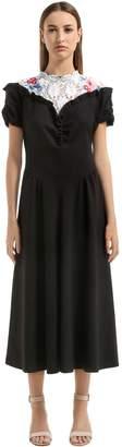 Lace & Light Canvas Midi Dress