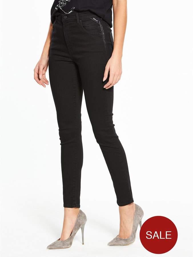 Janjop Skinny High Waisted Jean – Black