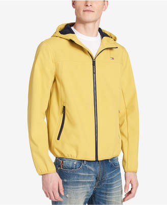 Tommy Hilfiger Men's Logo Graphic Hooded Soft-Shell Jacket