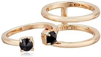 Rebecca Minkoff Stone Puzzle Rose Gold Ring