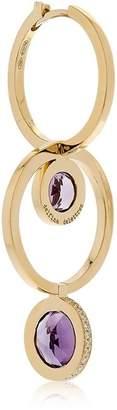 Delfina Delettrez Seal Double Hoop Gold Mono Earring