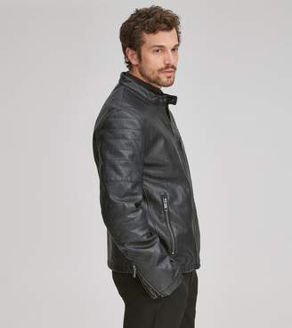 Andrew Marc KILLIAN FAUX LEATHER MOTO JACKET