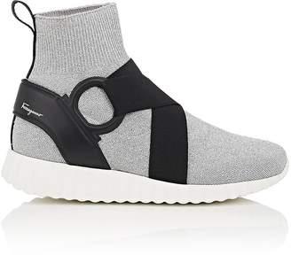 Salvatore Ferragamo Women's Harness-Strap Knit Sneakers