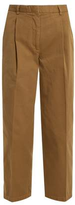 Acne Studios Tabea Straight Leg Cotton Trousers - Womens - Camel