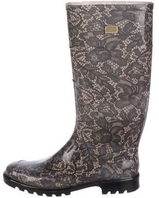 Dolce & Gabbana Mid-Calf Rain Boots