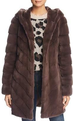 Maximilian Furs Hooded Plucked Mink Fur Coat - 100% Exclusive