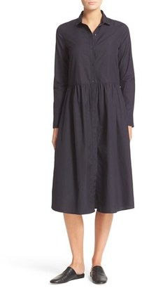 Women's Vince Shirred Cotton Shirtdress $295 thestylecure.com