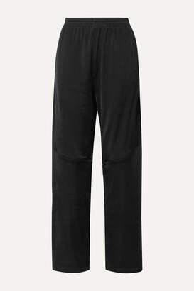MM6 MAISON MARGIELA Cotton-blend Satin-jersey Track Pants - Black
