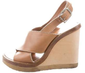 Chloé Leather Ankle-Strap Wedges