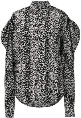 Saint Laurent drop puff sleeve shirt