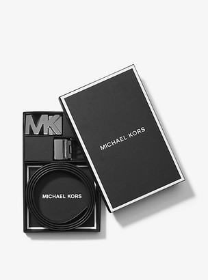 Michael Kors 4-In-1 Logo Belt Set