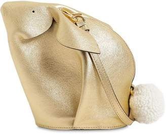 Loewe Bunny Metallic Leather Shoulder Bag