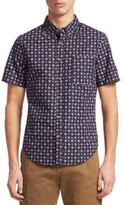 Madison Supply Printed Cotton Button-Down Shirt