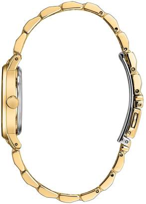 Citizen Eco-Drive Gold and Diamond Dial Gold Stainless Steel Bracelet Ladies Watch
