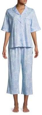 Miss Elaine Floral Capri Pajama Set