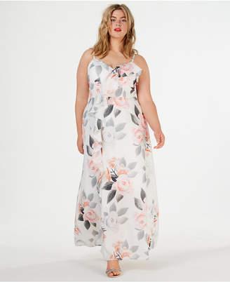 City Chic Trendy Plus Size Floral-Print Maxi Dress