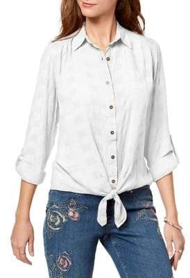 Style&Co. Style & Co. Textured Button-Down Shirt