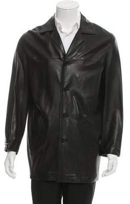 Bergdorf Goodman Leather Car Coat