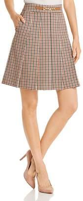 Tory Burch Pleated Plaid Mini Skirt