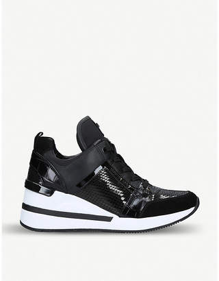 1db2168e2fee6 MICHAEL Michael Kors Georgie leather wedge trainers
