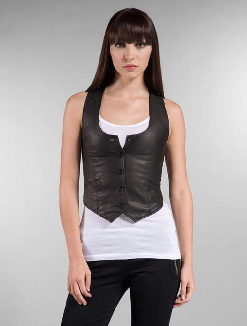 Joyrich Leather Vest in Black