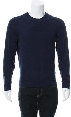 Calvin Klein Collection Woven Crew Neck Sweater